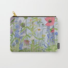 Flowers Alive Watercolor Carry-All Pouch