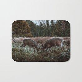 Yosemite Bucks Locking Horns Bath Mat