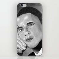 obama iPhone & iPod Skins featuring Obama  by Lupo Solitario