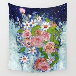 Celestial Sky Flower Garden Wall Tapestry