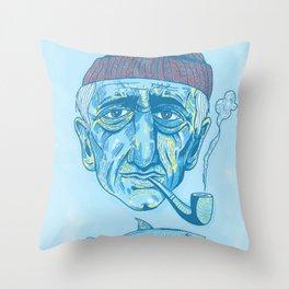 Cousteau. Throw Pillow