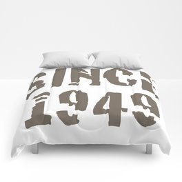 Text Since 1949 Comforters