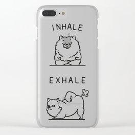 Inhale Exhale Pomeranian Clear iPhone Case