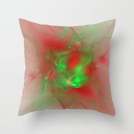 Folds of Christmas Throw Pillow