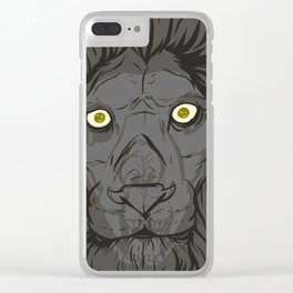 The King's Ghost Clear iPhone Case