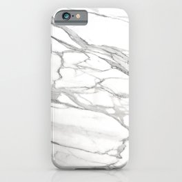 Grey Winter Marble iPhone Case