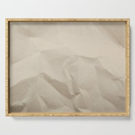 Beige Canvas Texture. Grunge Horizontal Background. Serving Tray