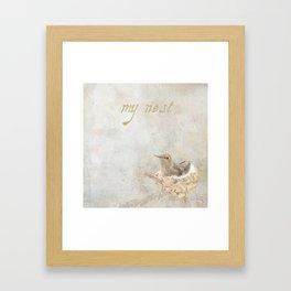 my nest Framed Art Print