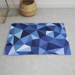 Deep Sea Crystal Low Poly Rug