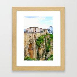 New Bridge, Ronda, Spain Framed Art Print