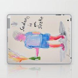 Sadness is on strike Laptop & iPad Skin