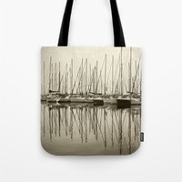 boats Tote Bags featuring Boats by stephmel