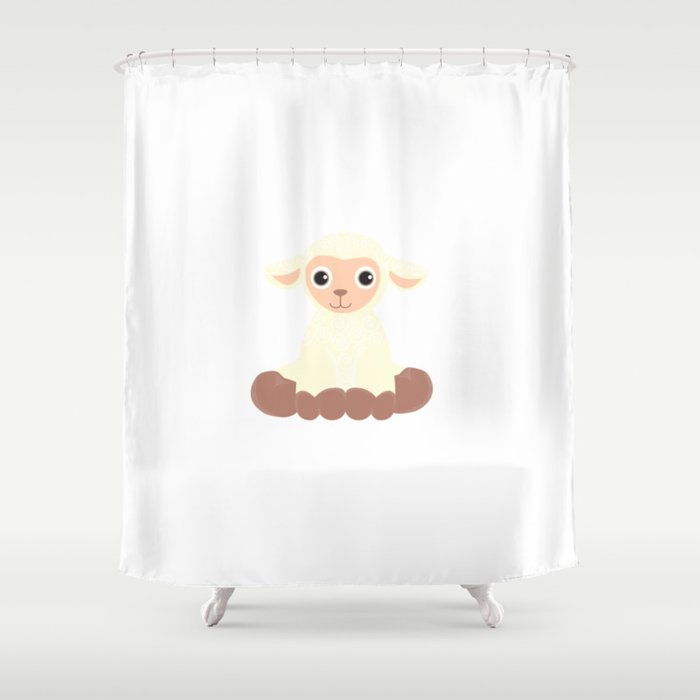 Cute Baby Sheep Shower Curtain