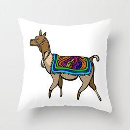 Lofty Llama Throw Pillow