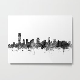 Jersey City New Jersey Skyline Metal Print