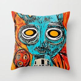 Blue Devil Throw Pillow