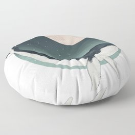 by the light of the moon Floor Pillow