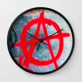 Anarchy Graffiti Wall Clock