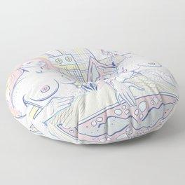 Girls in the City Floor Pillow