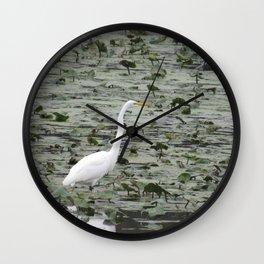 Egrt at John Heinz Wildlie Refuge a Tinicum Wall Clock