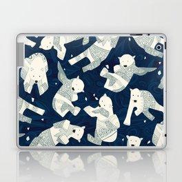 arctic polar bears midnight Laptop & iPad Skin