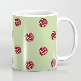 Pomegranates Grid Green Coffee Mug