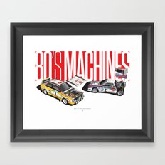 80's Machines Framed Art Print