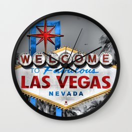 Welcome to Fabulous Las Vegas Wall Clock
