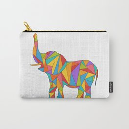 Big, bright, and colorful elephant - polychromatic animal Carry-All Pouch