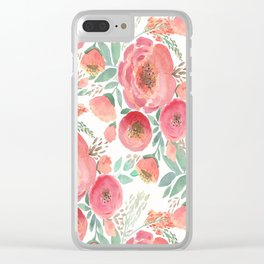 Floral pattern 5 Clear iPhone Case