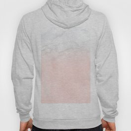 Blush Pink on White and Gray Marble II Hoody