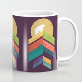 Lingering mountain with golden moon Coffee Mug