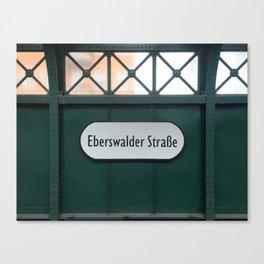 Berlin U-Bahn Memories - Eberswalder Straße Canvas Print