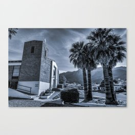 Small Town Church Canvas Print