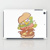 hamburger iPad Cases featuring Hamburger Time by hollypop