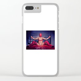 Bed Time - Naked woman tied up on a bed Clear iPhone Case