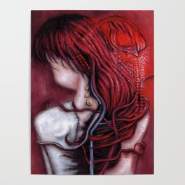 my heart soars like a blood red artifact Poster
