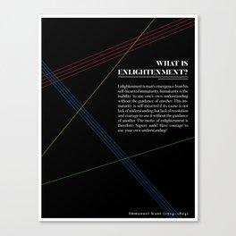Philosophia I: What is Enlightenment? Canvas Print