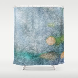 stained fantasy microorganisms Shower Curtain