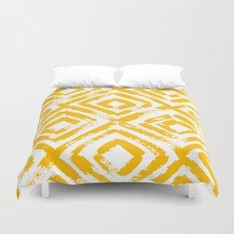 Amber Yellow Geometric Print Duvet Cover