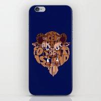 beast iPhone & iPod Skins featuring beast by Rebecca McGoran