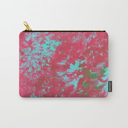 Pink Abstract Paint Carry-All Pouch