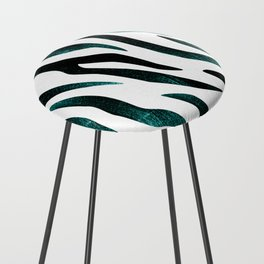 Here Kitty Kitty - Teal Counter Stool