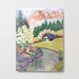 Spring Alpine Metal Print