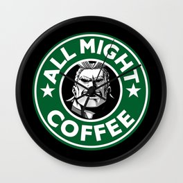 All Might Coffee Wall Clock