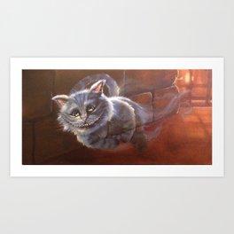the chesire cat Art Print