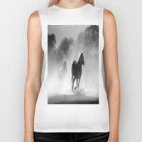 horses Biker Tanks featuring Horses  by Gracy Dreamscape