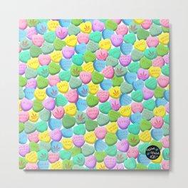 Cannabis Candy Hearts Metal Print