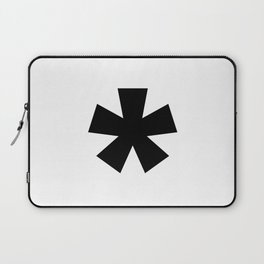 Asterisk (Black & White) Laptop Sleeve