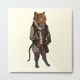 Animals in Suits - Sumatran Tiger Metal Print